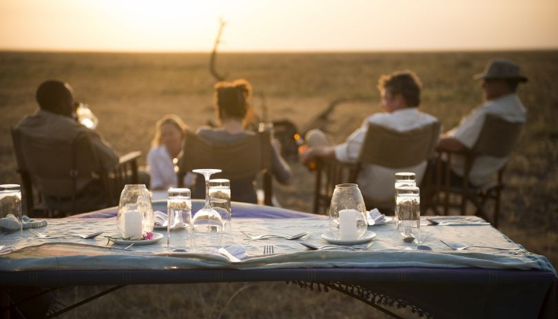 Three course dinner under the stars served at our Chada Katavi Flycamp.