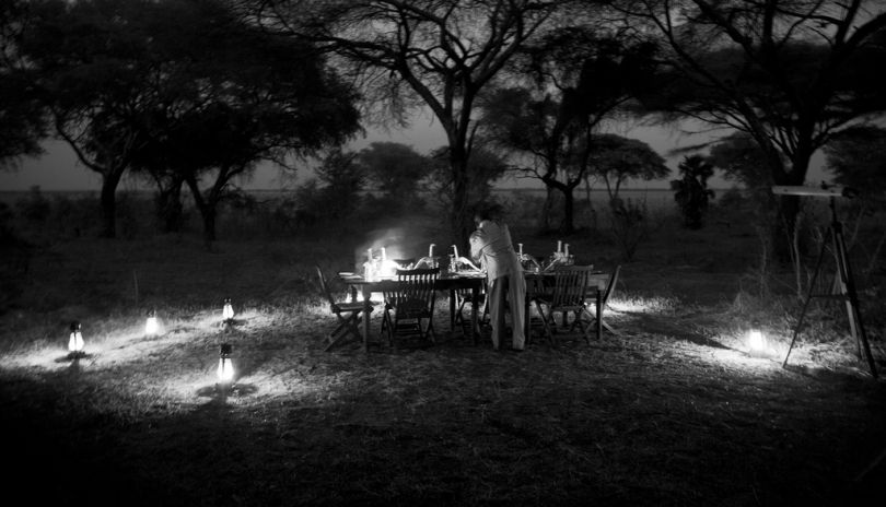 Dinner under the stars deep in wildest Africa at Chada Katavi.