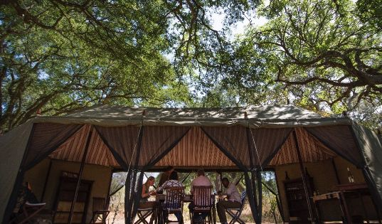 Chada has occupied this same site, shaded by tamarind trees, since we pioneered safaris in Katavi.