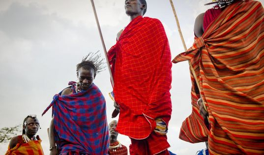 The infamous dance and super human high jump of the Maasai warriors at Entamanu Ngorongoro.