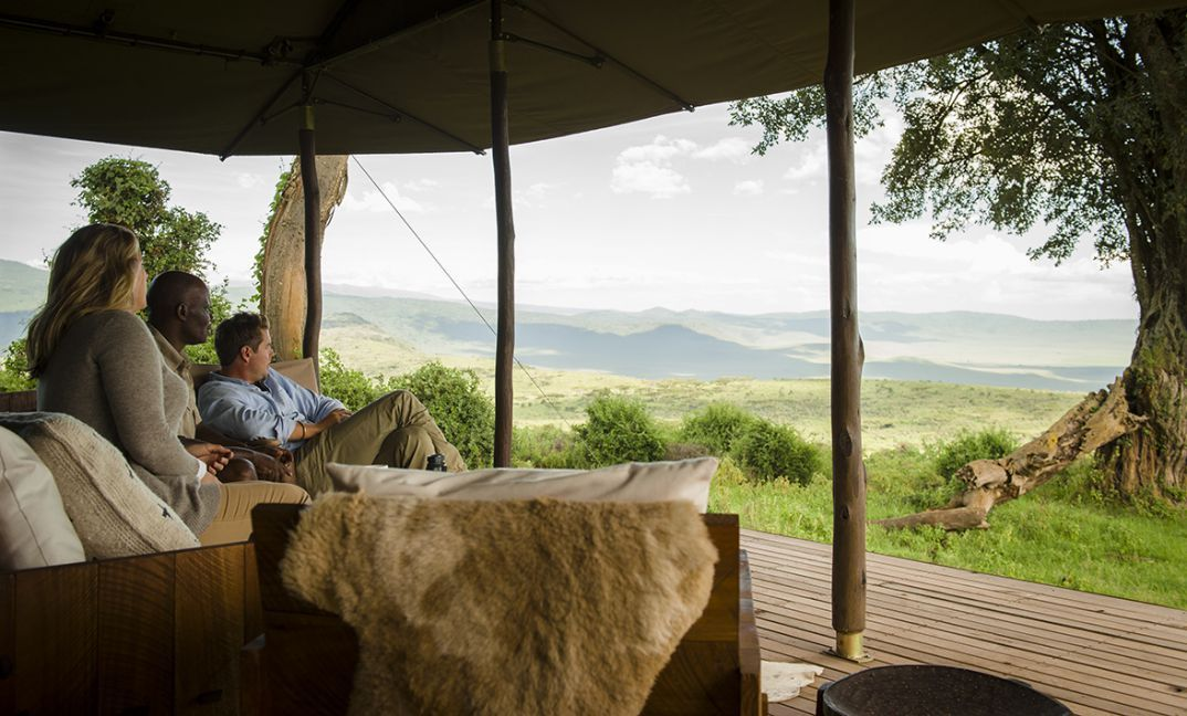 The views across the Crater and endless highlands from Entamanu Ngorongoro are pretty awesome.