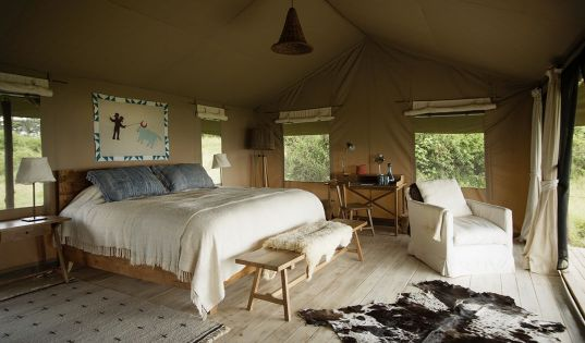 Our gorgeous rooms at Entamanu Ngorongoro are a cosy refuge from the elements on our wild side of the Crater.