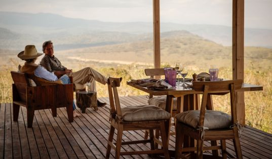 Views across the Ngorongoro Crater from your verandah at Entamanu Private.