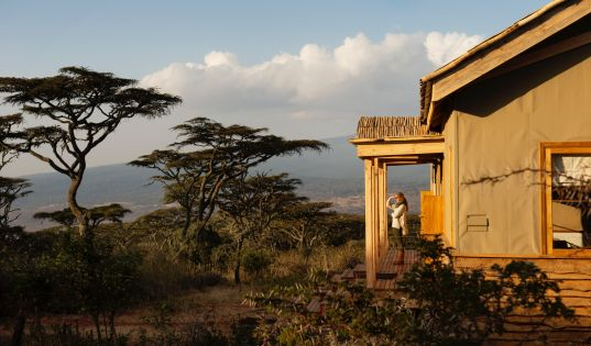 From behind your room, views sweep out across the Serengeti horizon. And from the front? The iconic Ngorongoro Crater.