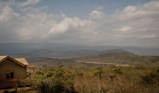 Crater views from Ngorongoro's private hideaway on the remote north western rim. Entamanu Private.