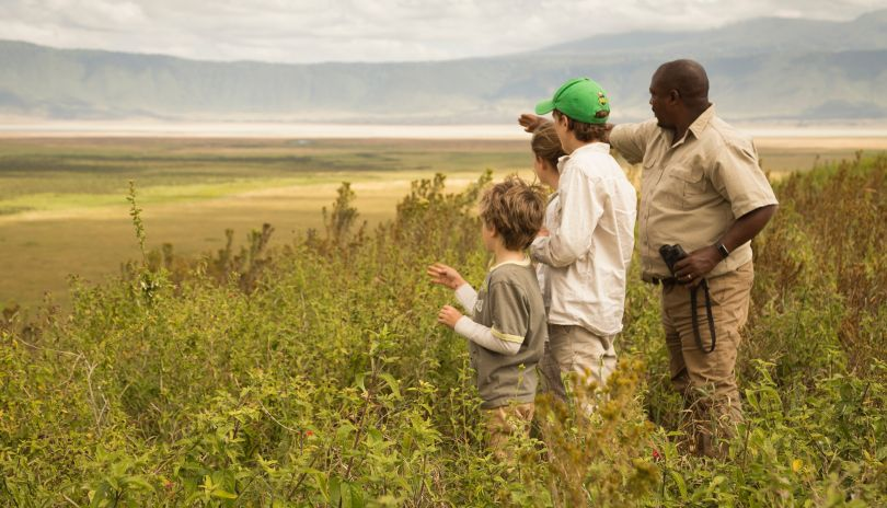 On the edge of the world with your family at Entamanu Ngorongoro.