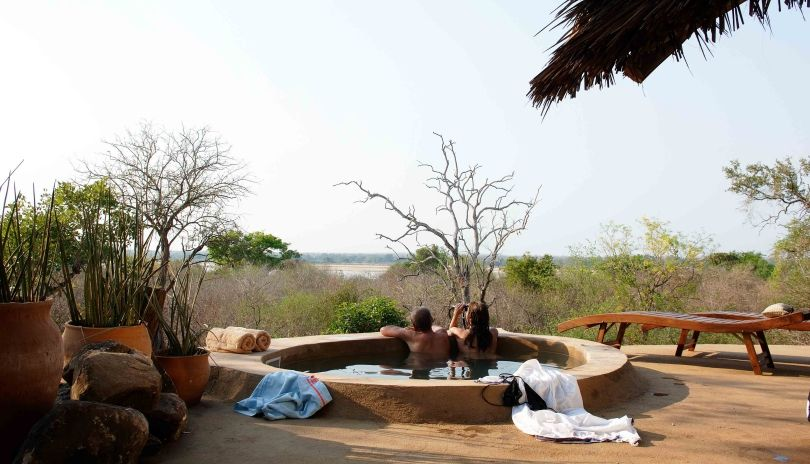 Each of the four suites at Kiba Point over look the Rufiji River, all with their own private plunge pools.