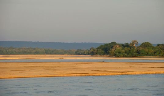 The great Rufiji River runs at the doorstep