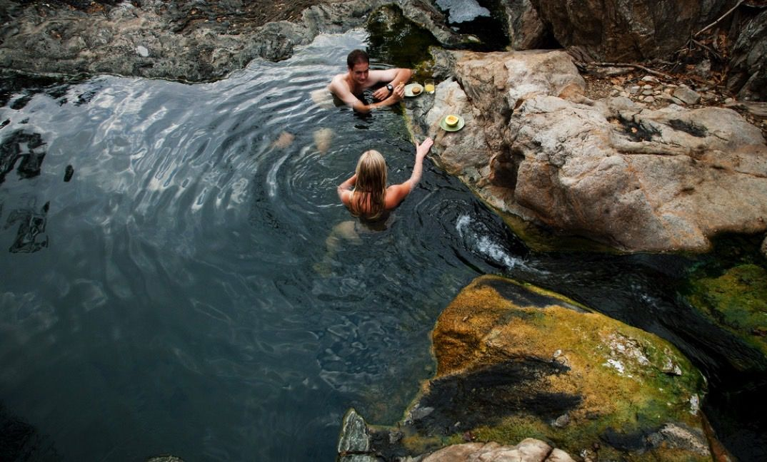 Drop in for a picnic and a dip in the hot springs while out on a game drive.