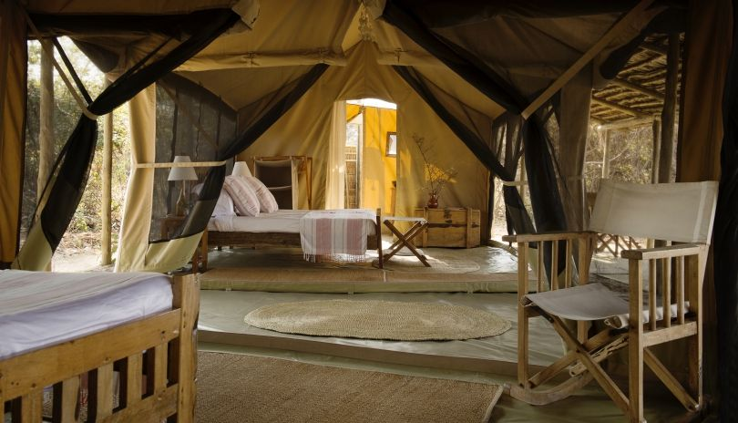 Kigelia Ruaha has a family tent which is made up two full size en-suite tents all under the same thatch roof and ideal for families or groups of friends traveling together.