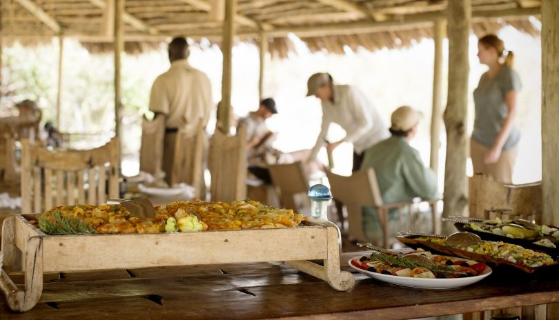 Delicious lunch served at Kigelia Ruaha.
