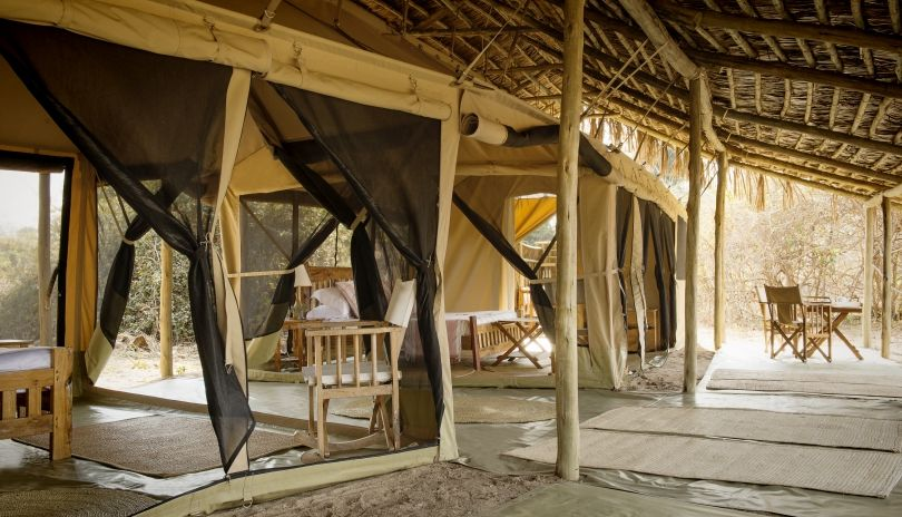 Plenty of space for all the family, but still close enough together in our family tent at Kigelia Ruaha.
