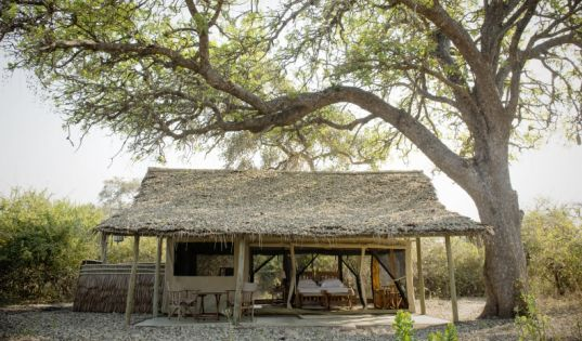 Shaggy thatch, light and airy traditional safari tents at Kigelia Ruaha. They just don't make them like this anymore.