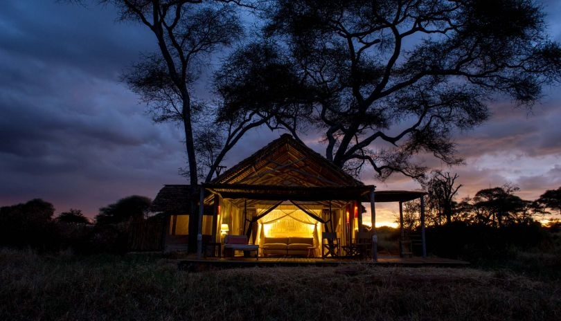 Lit by lanterns and solar lighting our Kuro Tarangire glows gently right in the heart of this phenomenal National Park.