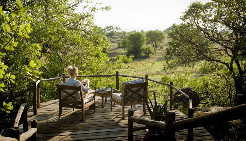 A quiet corner to contemplate the Serengeti at Lamai Private.