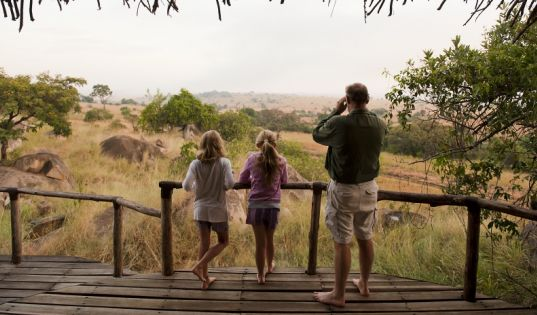 The view from Lamai Private stretches out across the Serengeti plains.