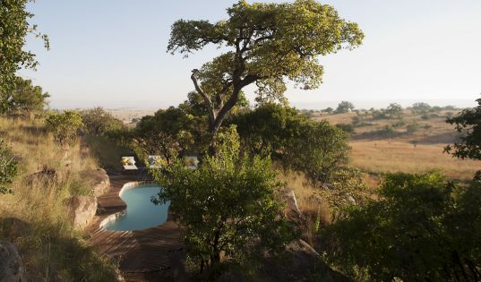 The private swimming pool at Lamai Private, tucked away within endless Serengeti vistas.