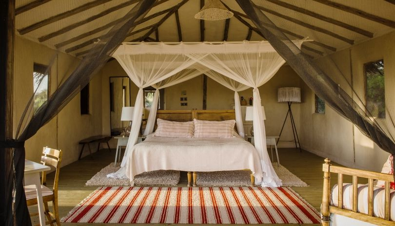 There are four rooms at Lamai Private, all open fronted with views over the Northern Serengeti plains.