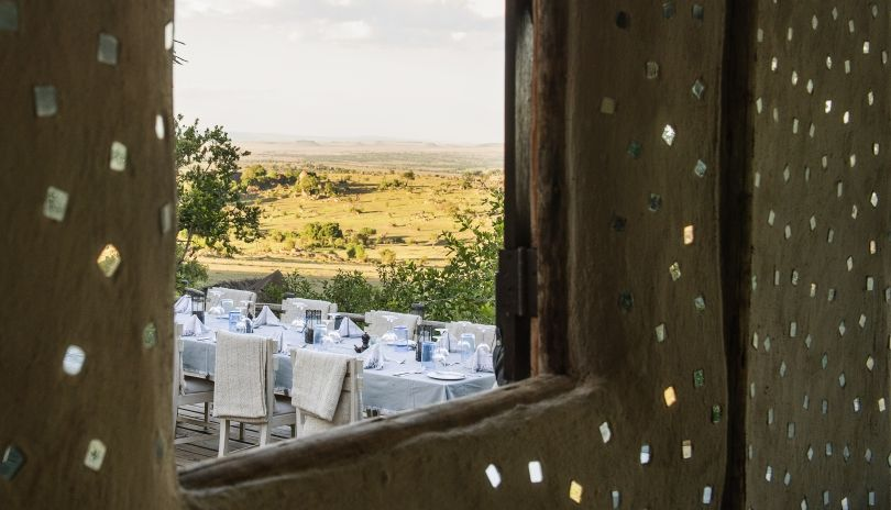 Dining with endless views over the Serengeti at Lamai Serengeti.