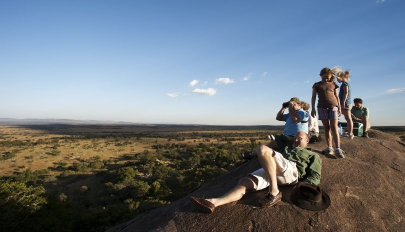 Sundowners on the kopje top at Lamai Serengeti.