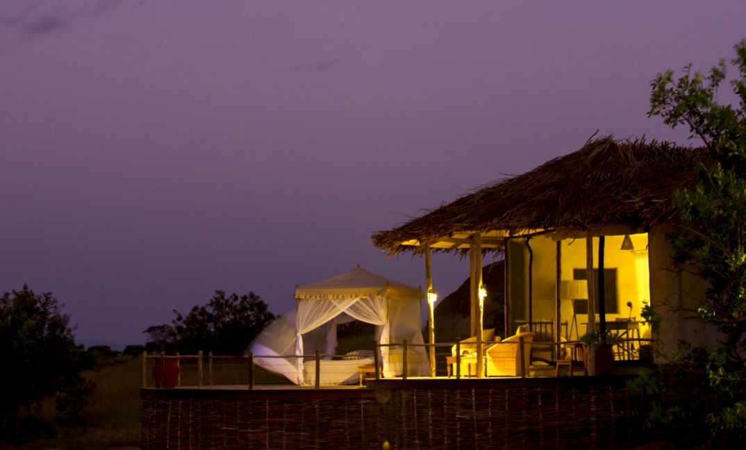 A night out under the stars in our starbed at Mkombe's House Lamai.