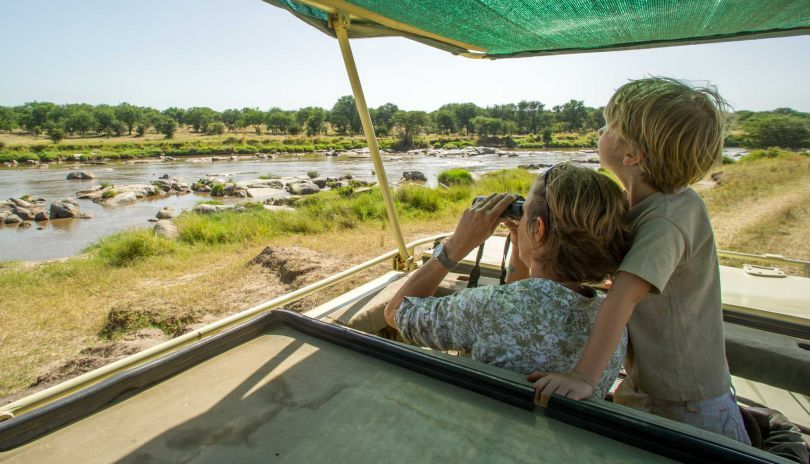 Family days out from Mkombe's House Lamai often involve trips to the Mara River.