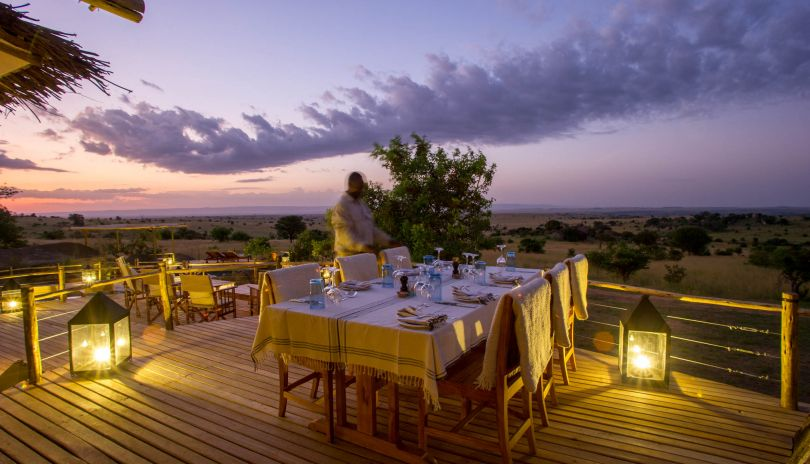 Dining under the stars at Mkombe's House Lamai.