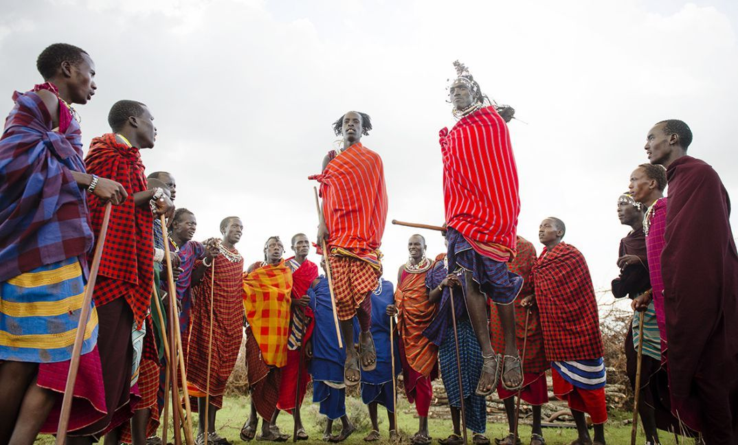 The Ngorongoro Crater sits in real Maasai country and an encounter with the Maasai warriors is unforgettable.