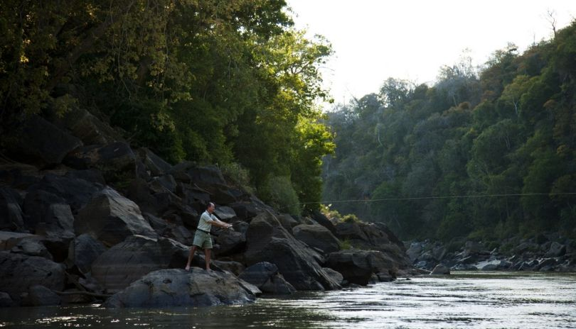 Fishing in Steiglers Gorge from Sand Rivers Selous.
