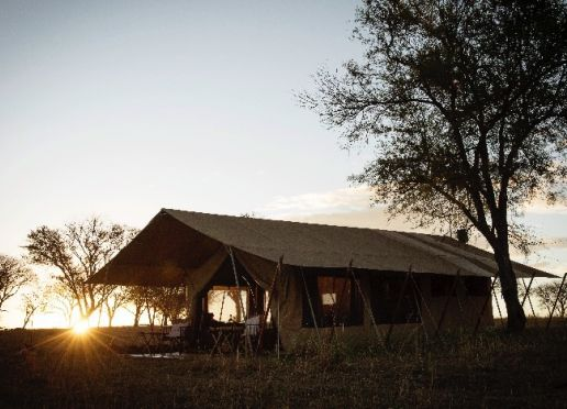 Tents created in the open air for a life in the bush