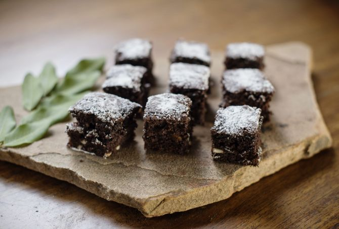 Easter Sand Rivers Chocolate Brownies